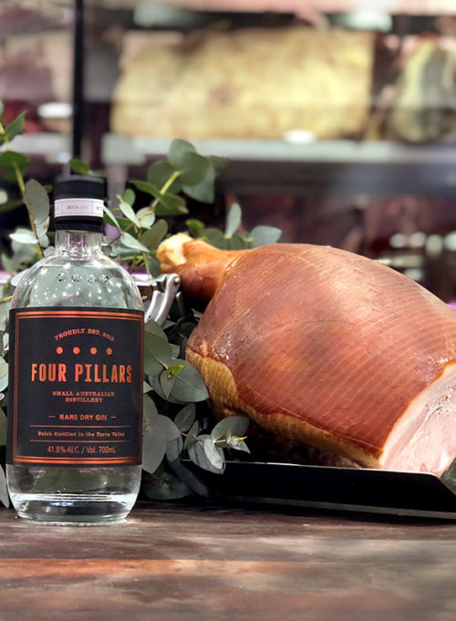 Garys Meats GINPIG Christmas Ham (Four Pillars) Full